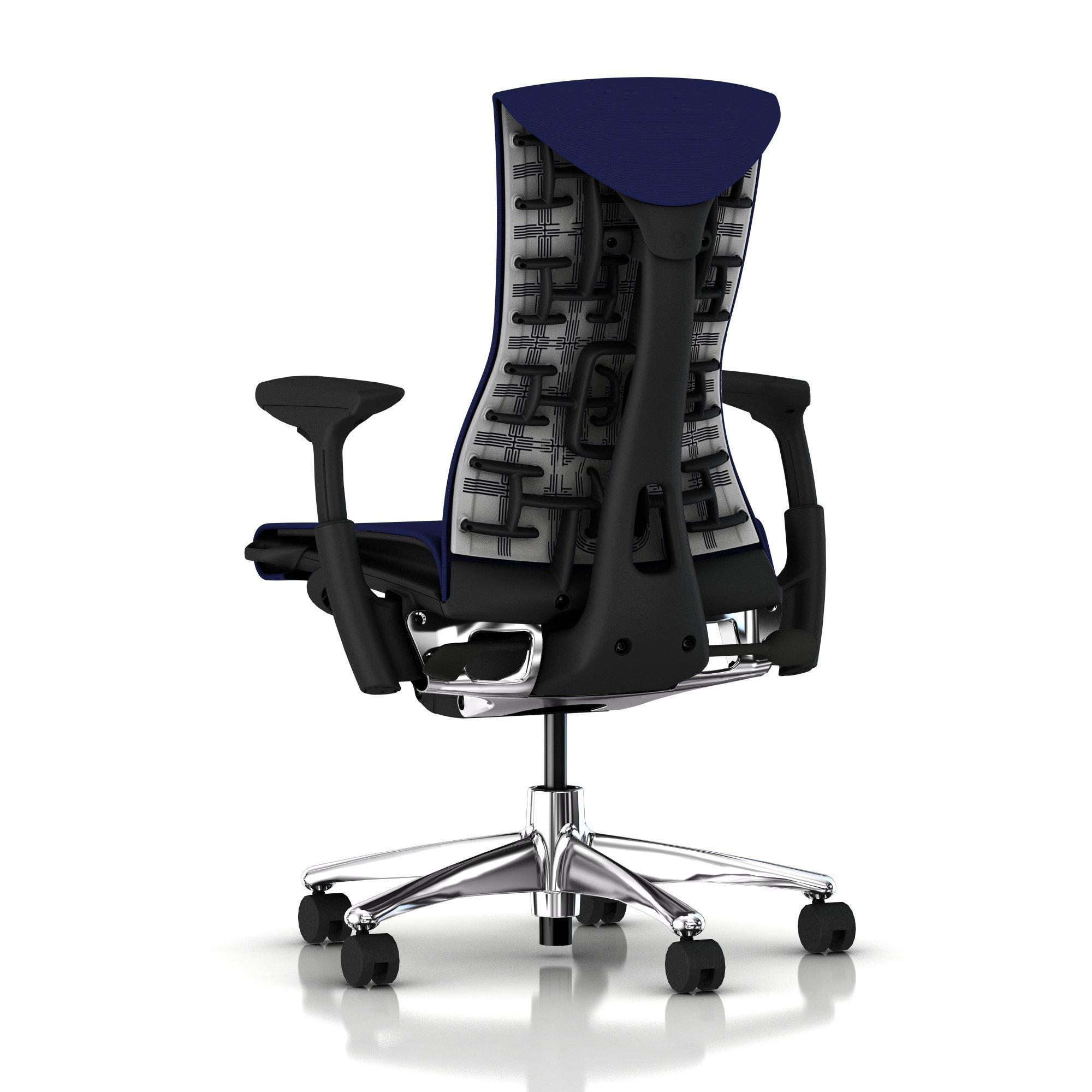 Herman Miller Embody Chair Twilight Blue Rhythm With Graphite Frame And Polis