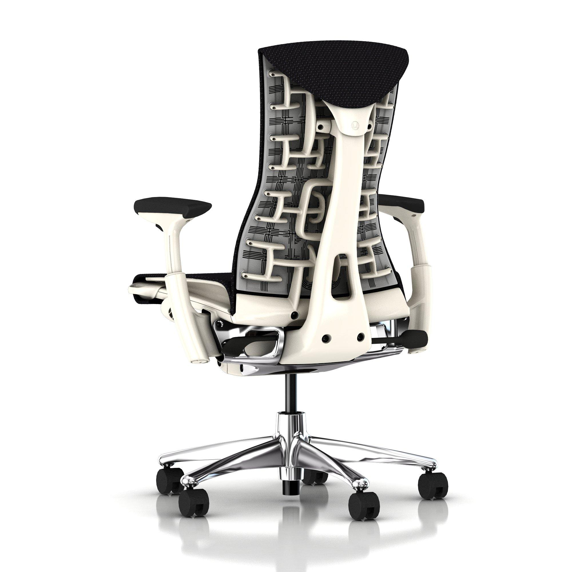 Herman Miller Embody Chair Black Balance With White Frame