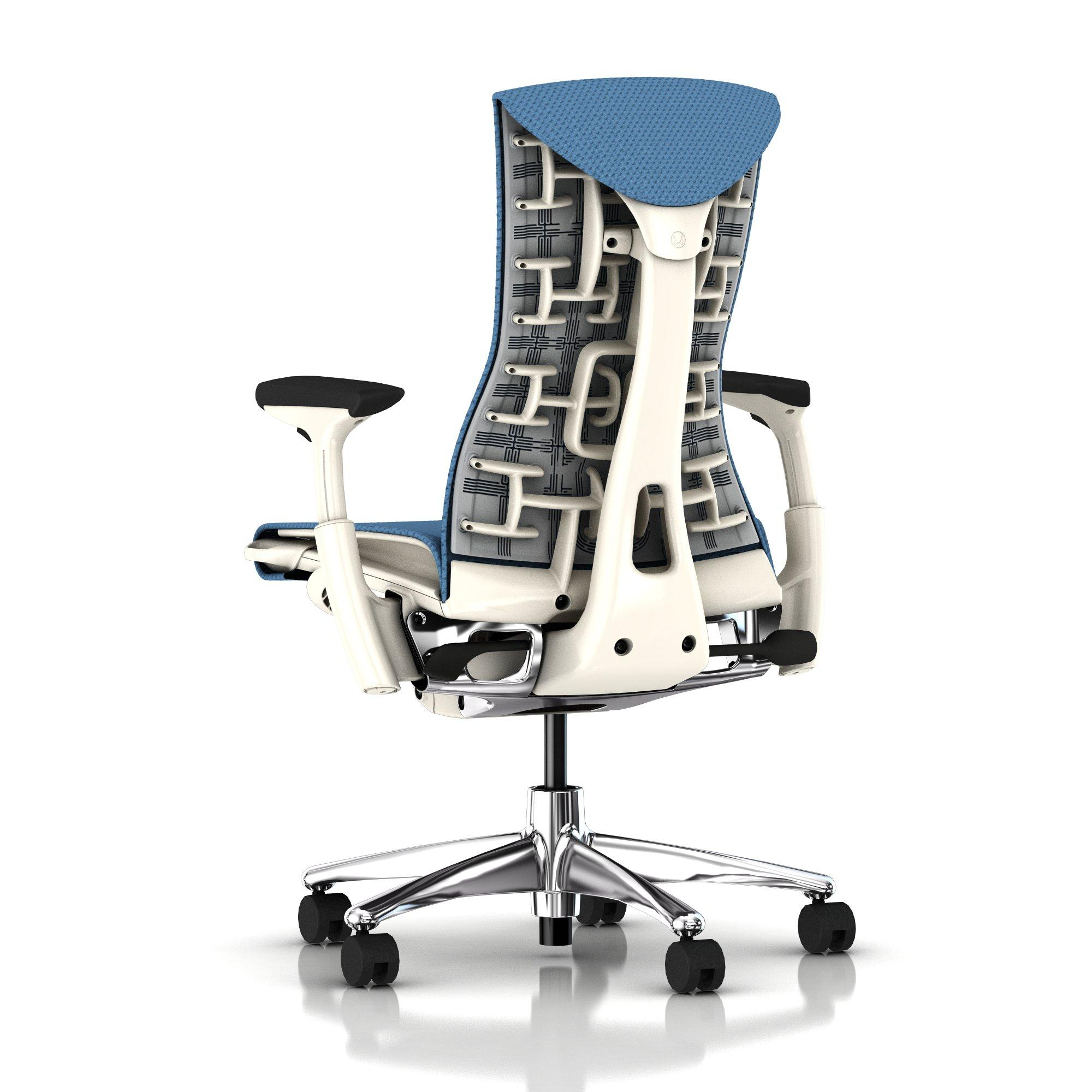 Herman Miller Embody Chair Blue Moon Balance with White