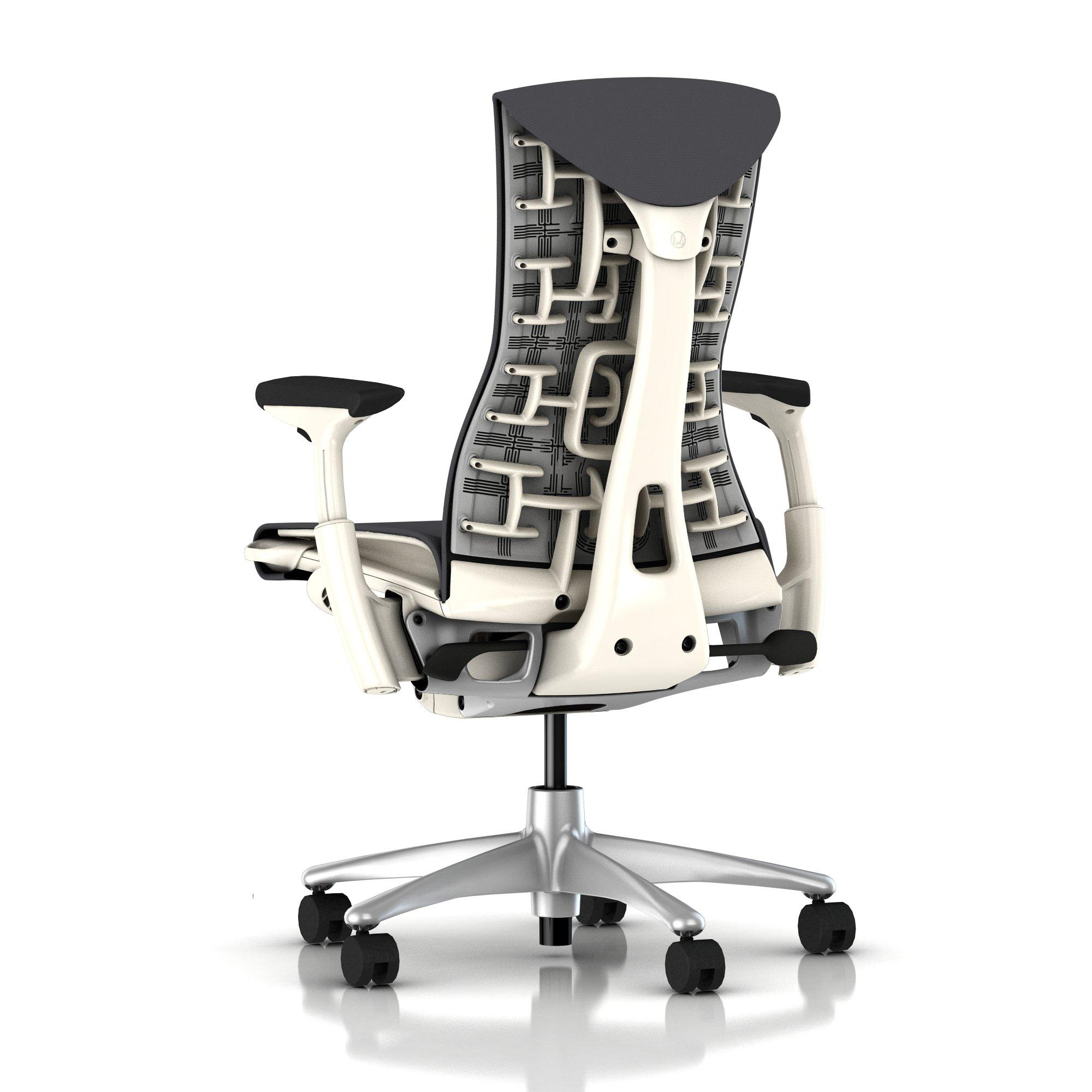 Herman Miller Embody Chair Charcoal Rhythm With White