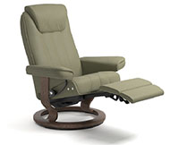 Stressless Bliss LegComfort Power Extending Footrest with Classic Wood Base