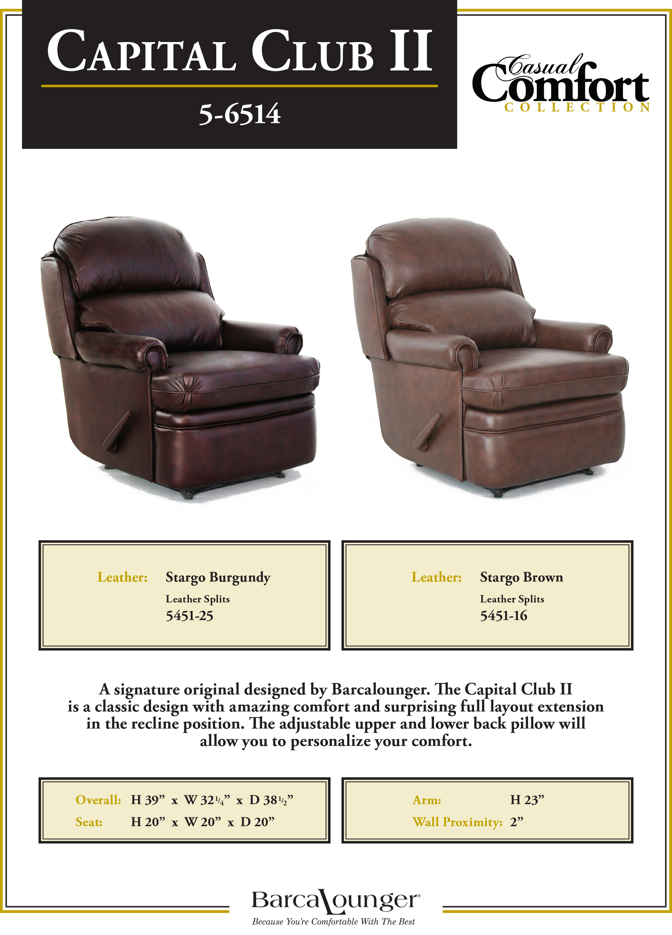 Barcalounger Capital Club II Recliner Chair Leather Dimensions & Barcalounger Capital Club II Wall Hugger Recliner Chair - Leather ... islam-shia.org