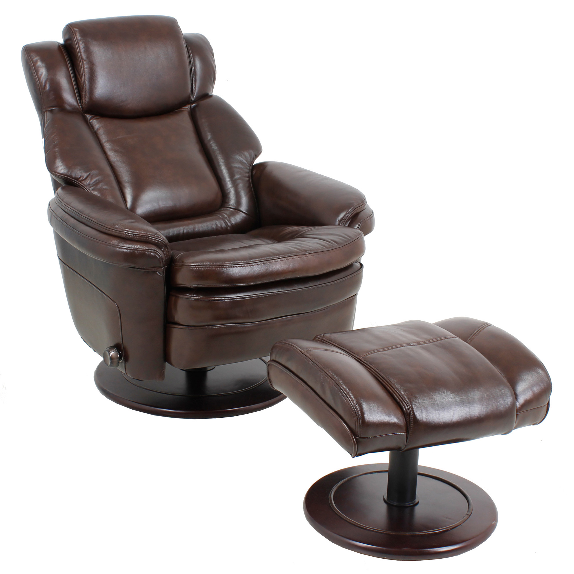 Barcalounger Eclipse II Recliner Chair and Ottoman Leather