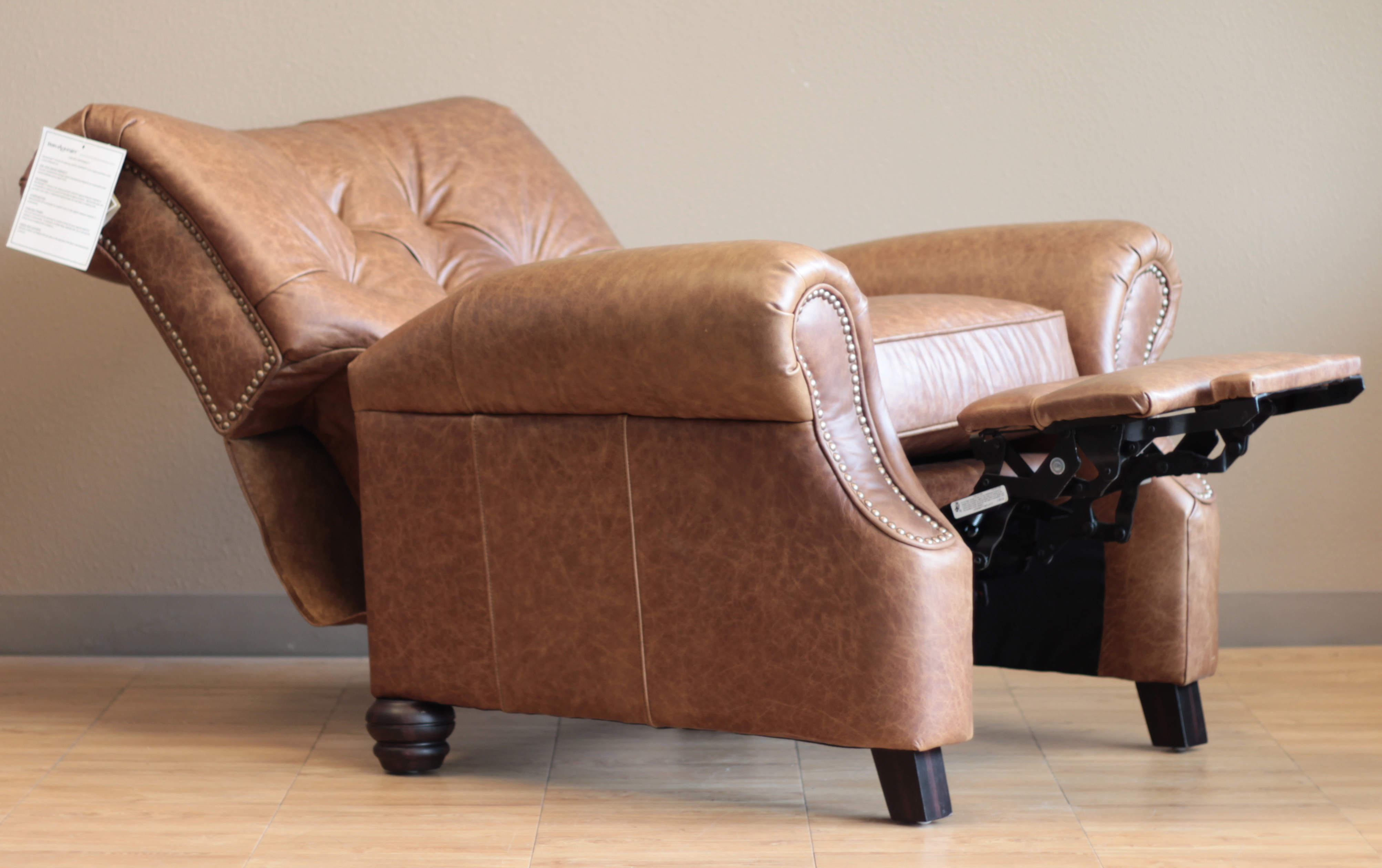 Barcalounger Phoenix II Leather Recliner Chair : saddle leather recliner - islam-shia.org