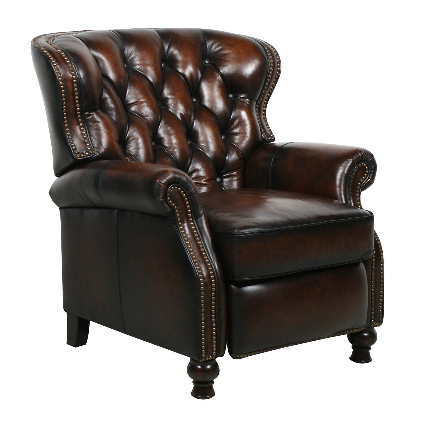 barcalounger presidential ii leather recliner chair - leather