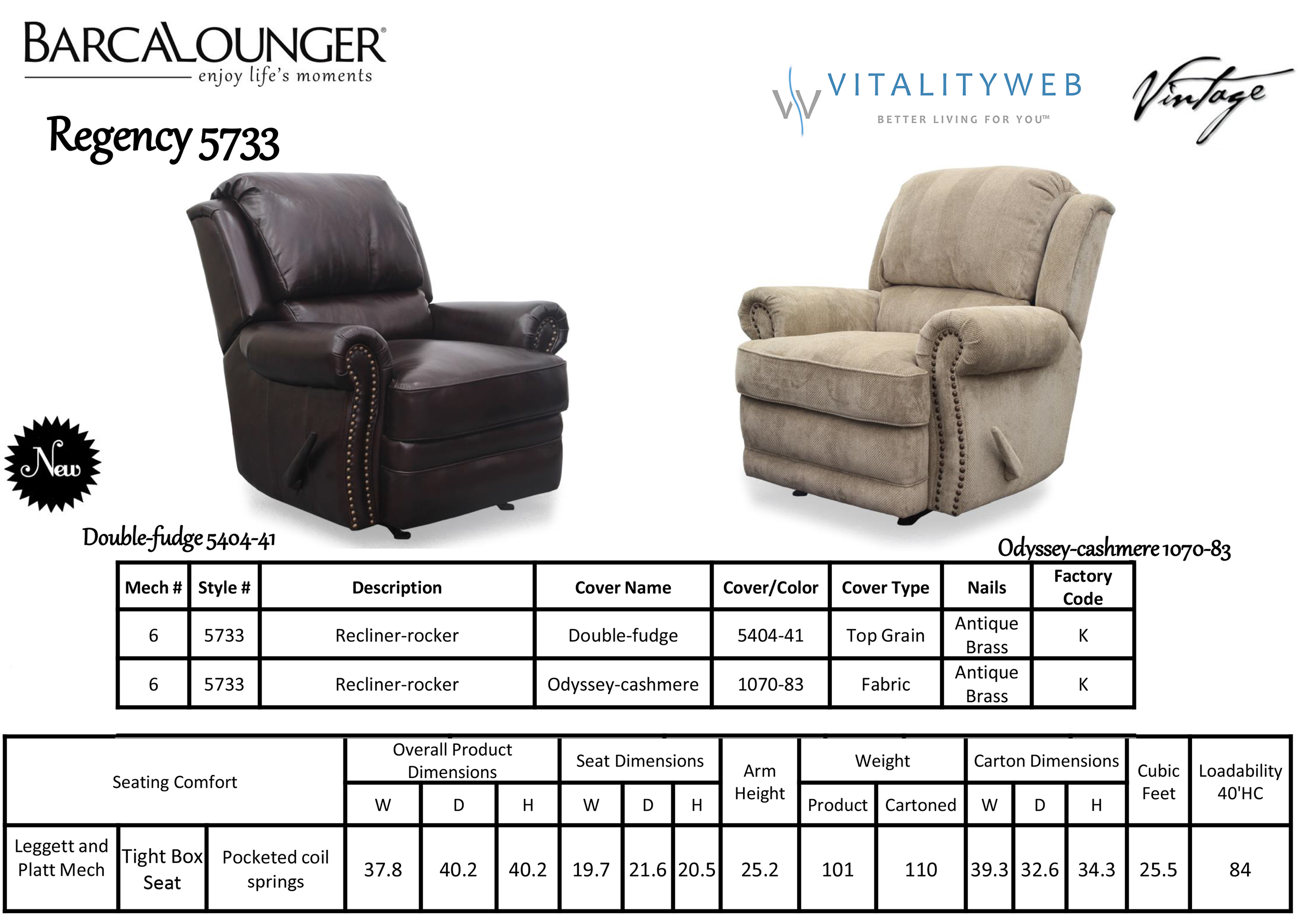 Barcalounger Regency II 5733 Leather Recliner Chair Dimensions  sc 1 st  Vitalityweb.com & Barcalounger Regency II Leather Recliner Chair - Leather Recliner ... islam-shia.org