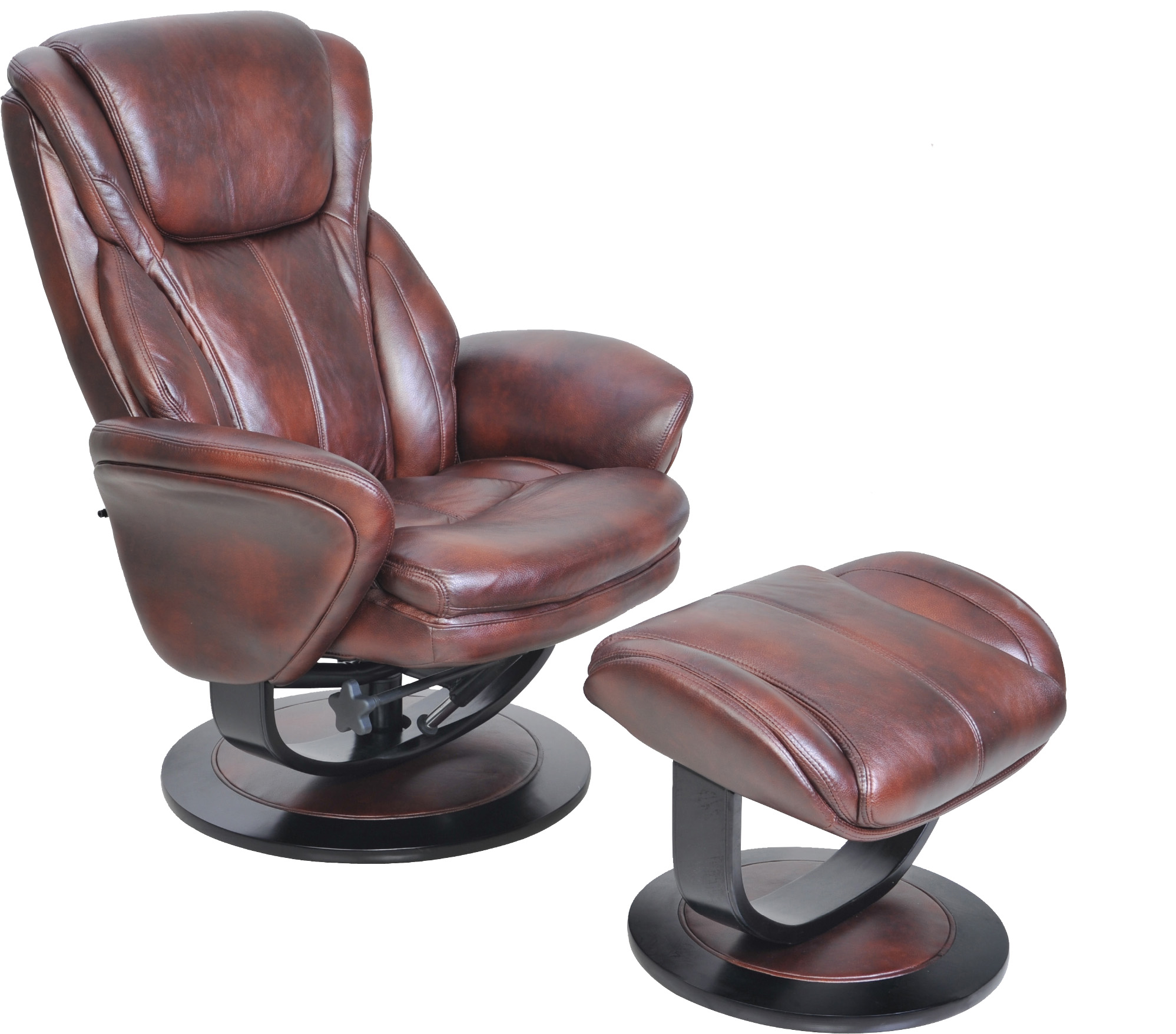 swivel recliner chairs for living room 2. Barcalounger Roma II Leather Recliner Chair and Ottoman