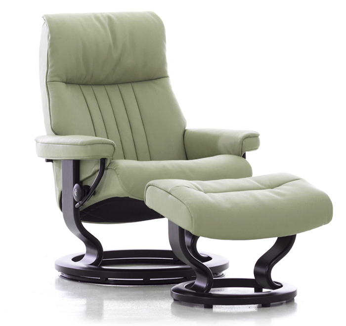 Stressless Crown Medium Recliner Chair And Ottoman By Ekornes