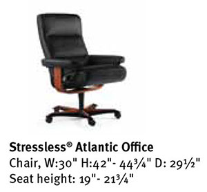 Stressless Atlantic Office Desk Chair Dimensions