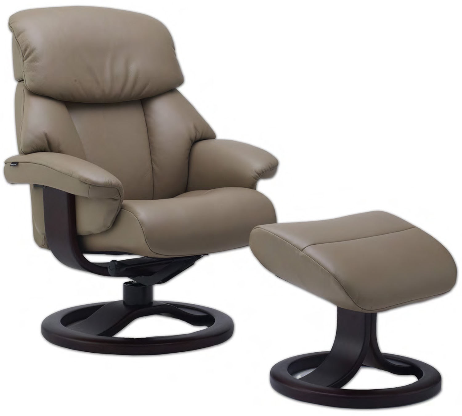 Fjords Alfa 520 Ergonomic Leather Recliner Chair and Ottoman Scandinavian Lounger  sc 1 st  Vitalityweb.com : ergonomic leather recliner - islam-shia.org