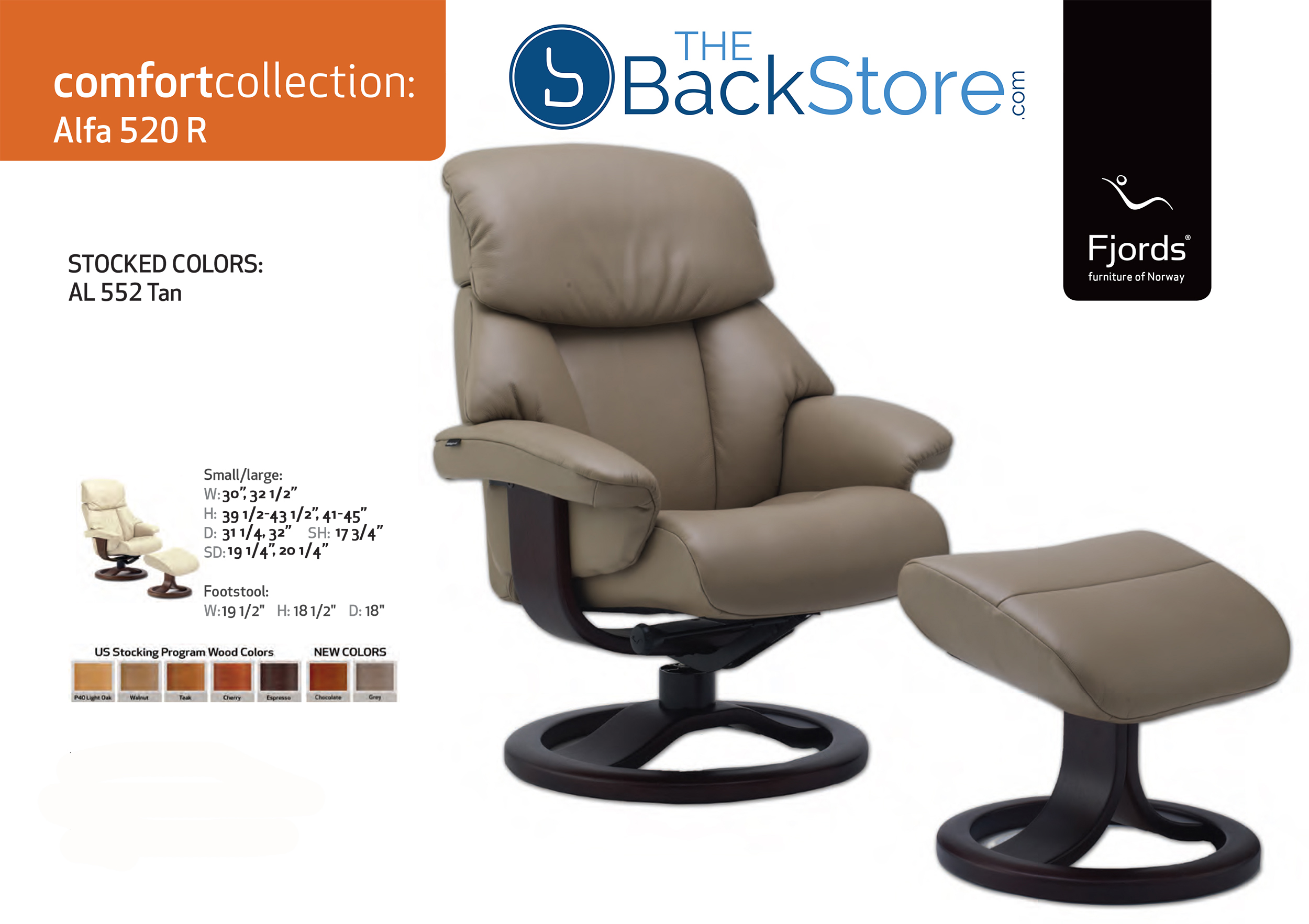 Fjords Alfa 520 Leather Recliner Chair and Ottoman  sc 1 st  Vitalityweb.com & Fjords Alfa 520 Ergonomic Leather Recliner Chair + Ottoman ... islam-shia.org