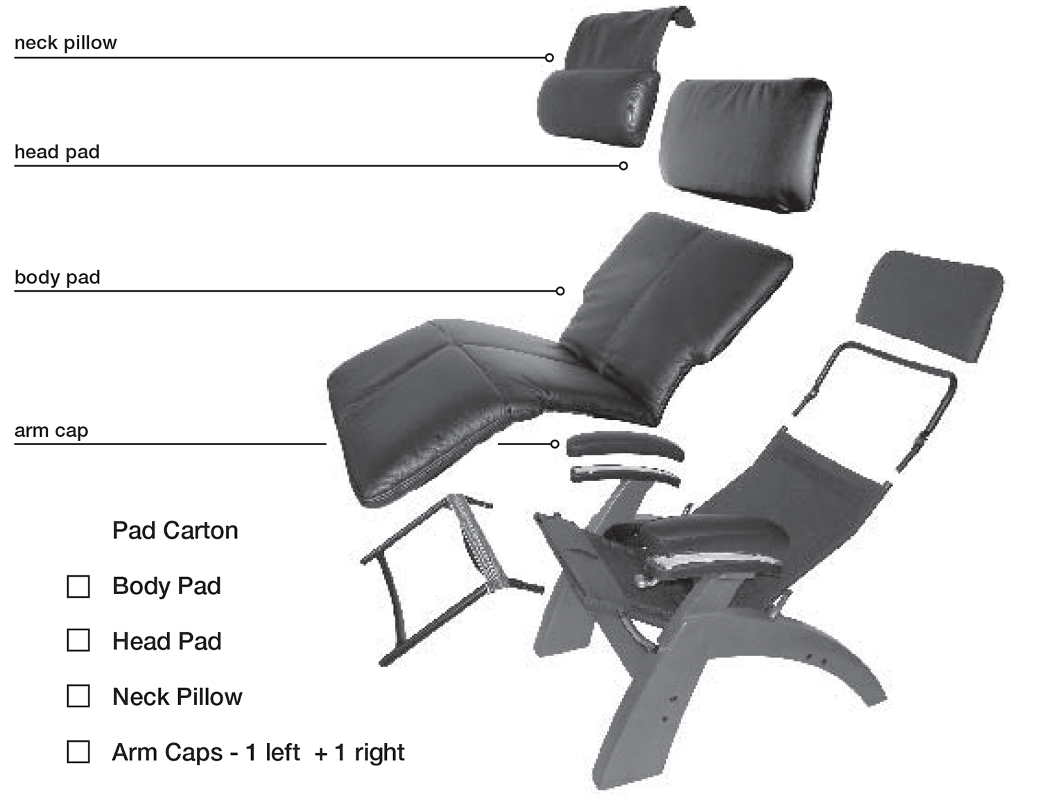 Superbe Human Touch Perfect Chair Pad Set