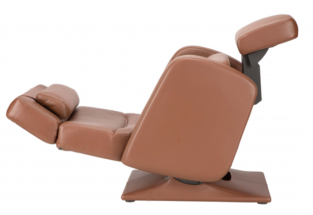 Barista Chocolate Top Grain Leather Human Touch PC 8500 Zero Gravity  Recliner Chair