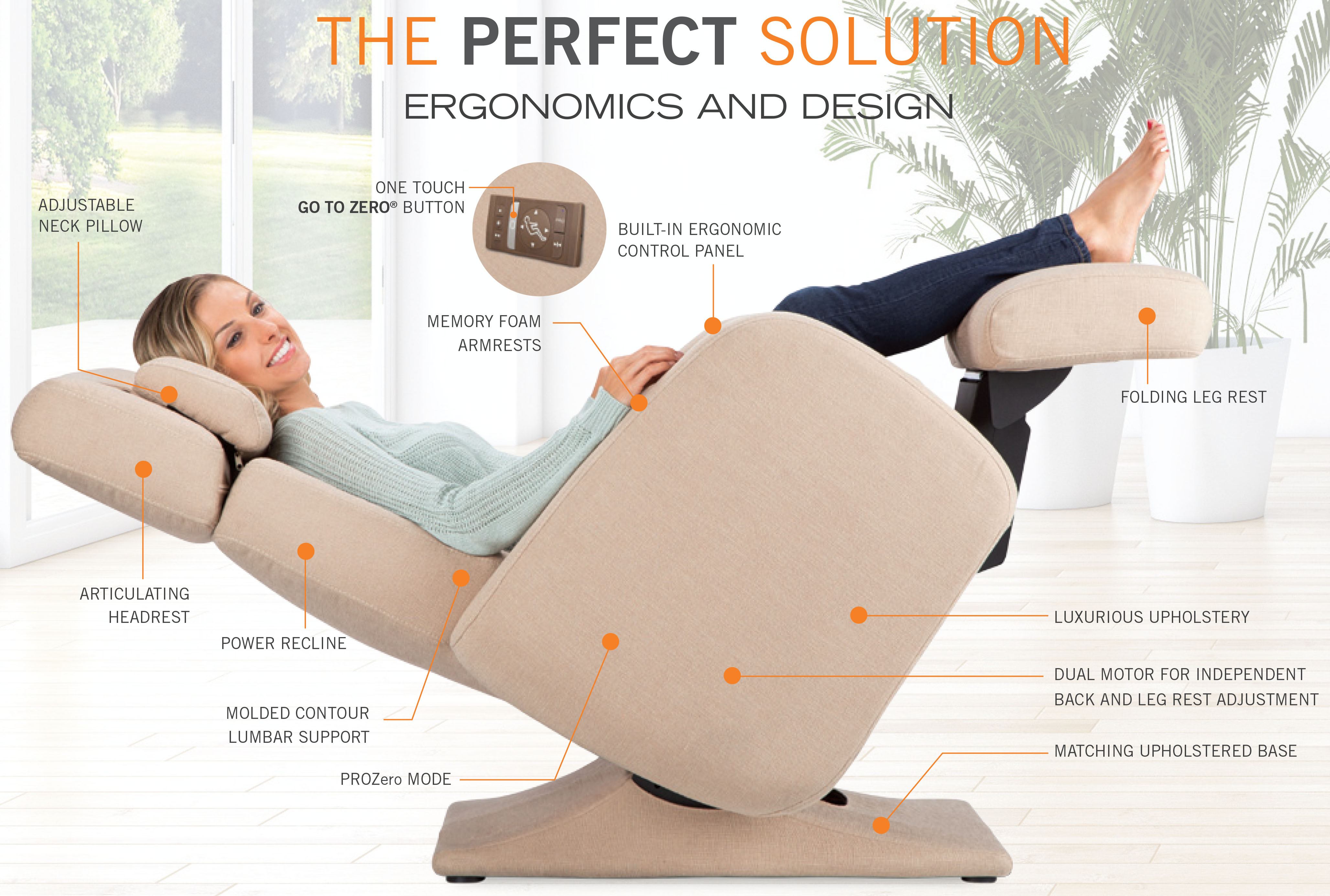 Pc 8500 zero gravity perfect chair recliner features by human touch