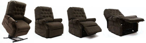 mega motion lc500 electric power recline easy comfort lift chair recliner - Recliner Lift Chairs