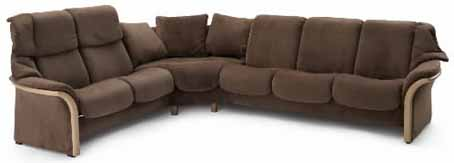 Perfect Stressless Granada Fabric Low Back Leather Sofa Ergonomic Couch By Ekornes
