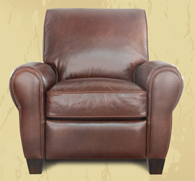 Barcalounger lectern ii recliner chair leather recliner for Barcalounger