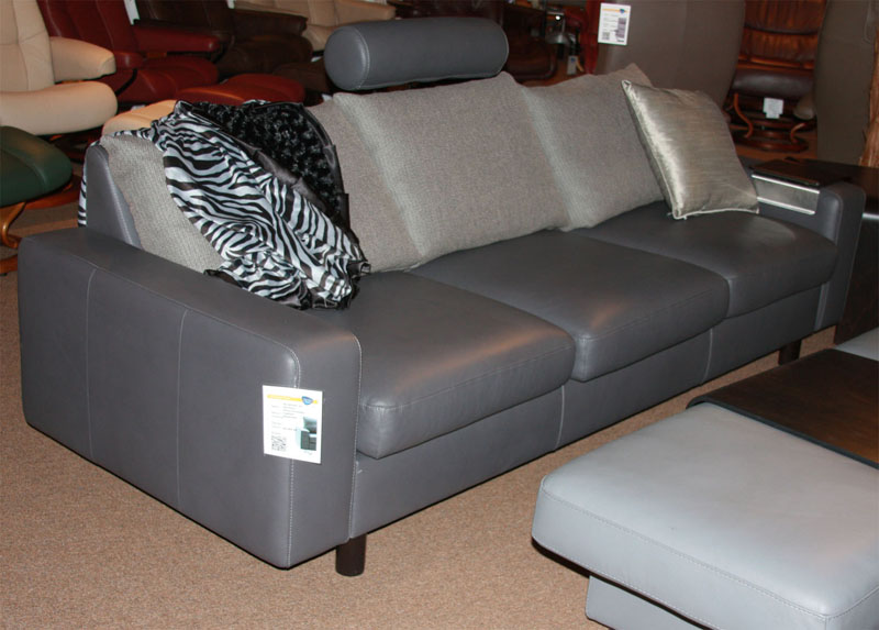 Stressless E200 Leather Ergonomic Sofa Couch With Separate