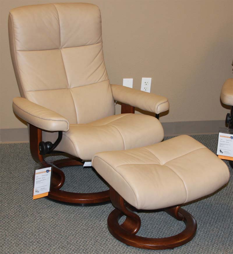 Leather by ekornes stressless paloma sand leather chairs recliners