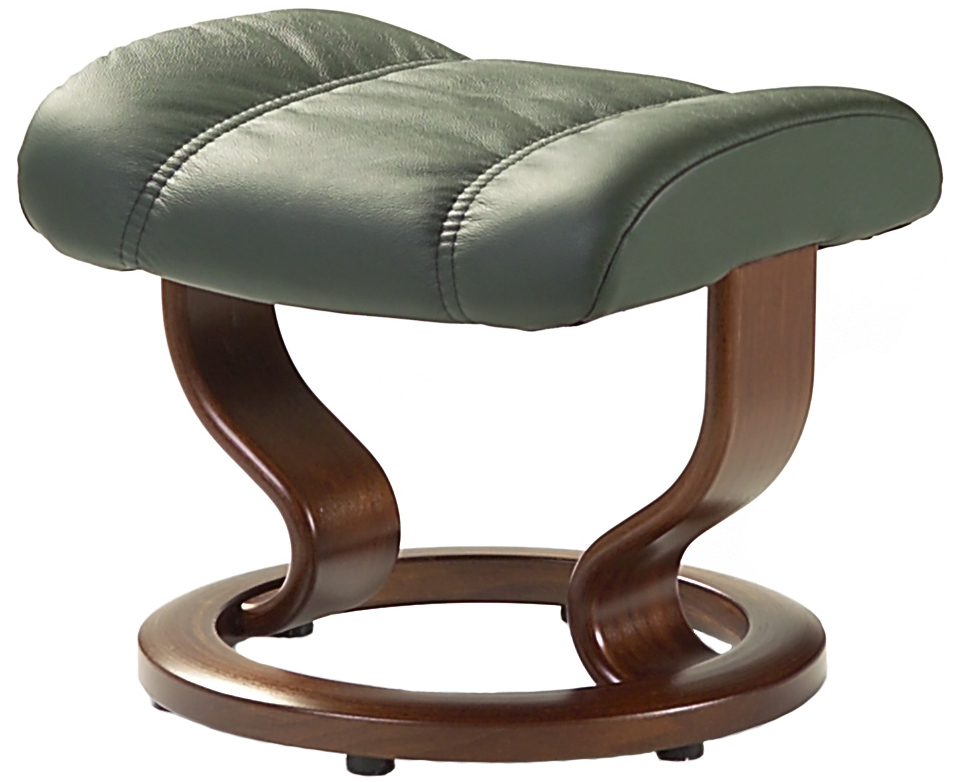 Stressless leather recliner chair ottoman by ekornes for Recliner chairs with ottoman