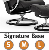 Stressless Nordic Signature Steel and Wood Base