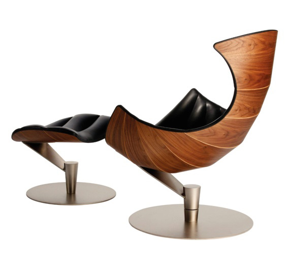 Fjords lobster chair recliner and footstool in passion for Design sessel scandinavia