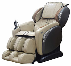 Cream Osaki OS-4000CS Zero Gravity Massage Chair Recliner