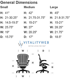 Herman Miller Aeron Home Office Chair Ergonomic Seating