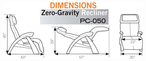 Pc 050 Perfect Chair Zero Gravity Recliner From Human