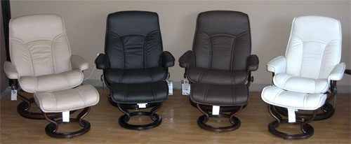 Stressless Governor Large Paloma Light Grey Leather By