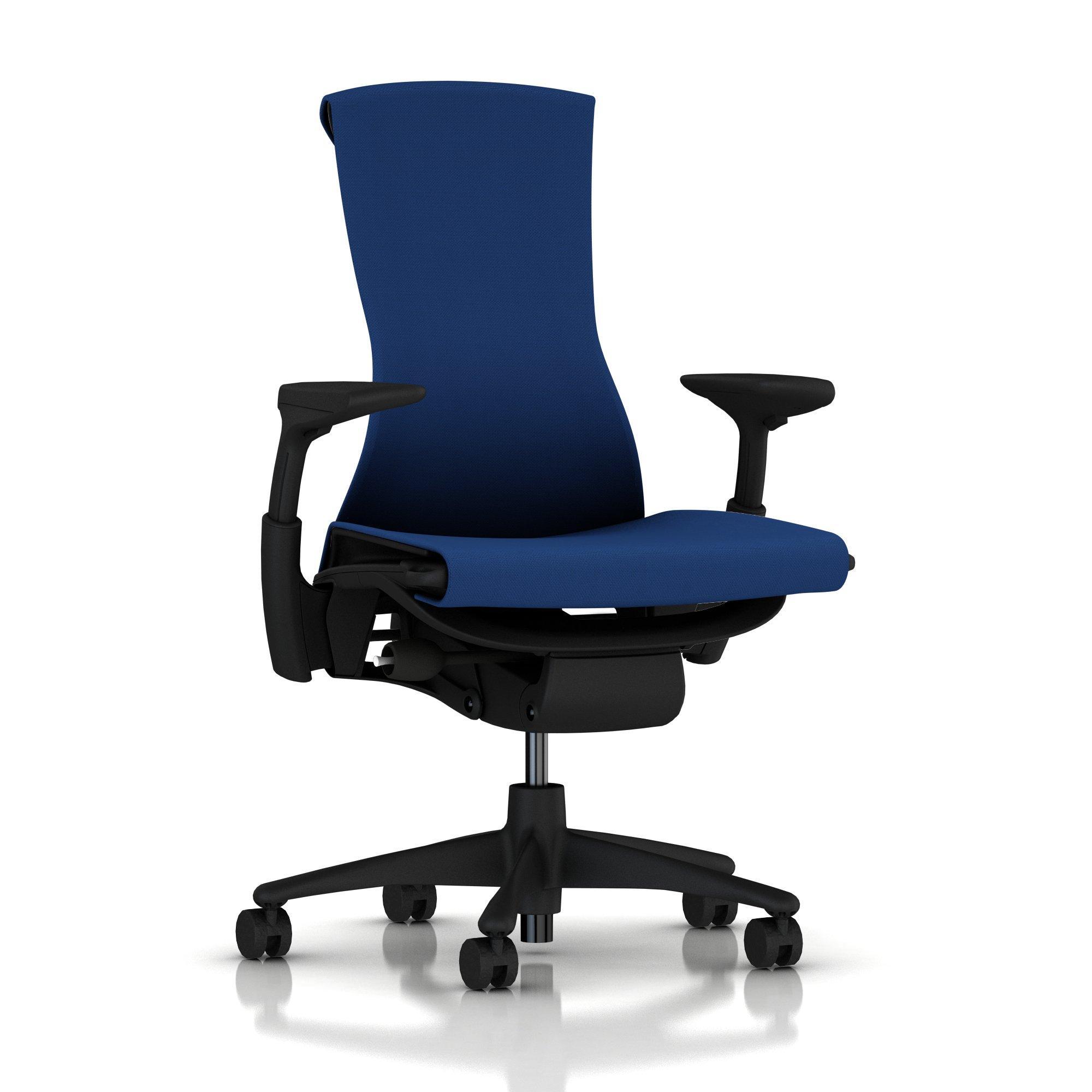 Herman Miller Embody Chair Berry Blue Rhythm with Graphite Frame