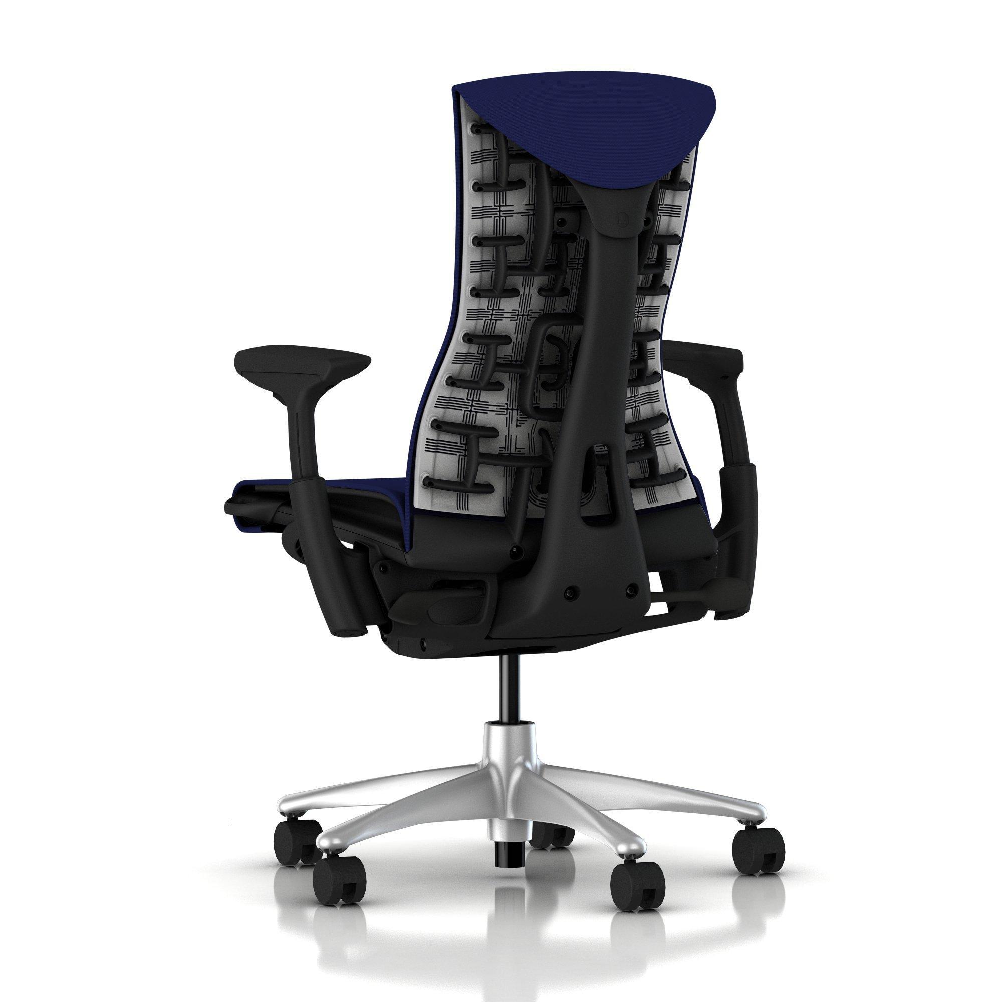 Herman Miller Embody Chair Twilight Blue Rhythm with Graphite