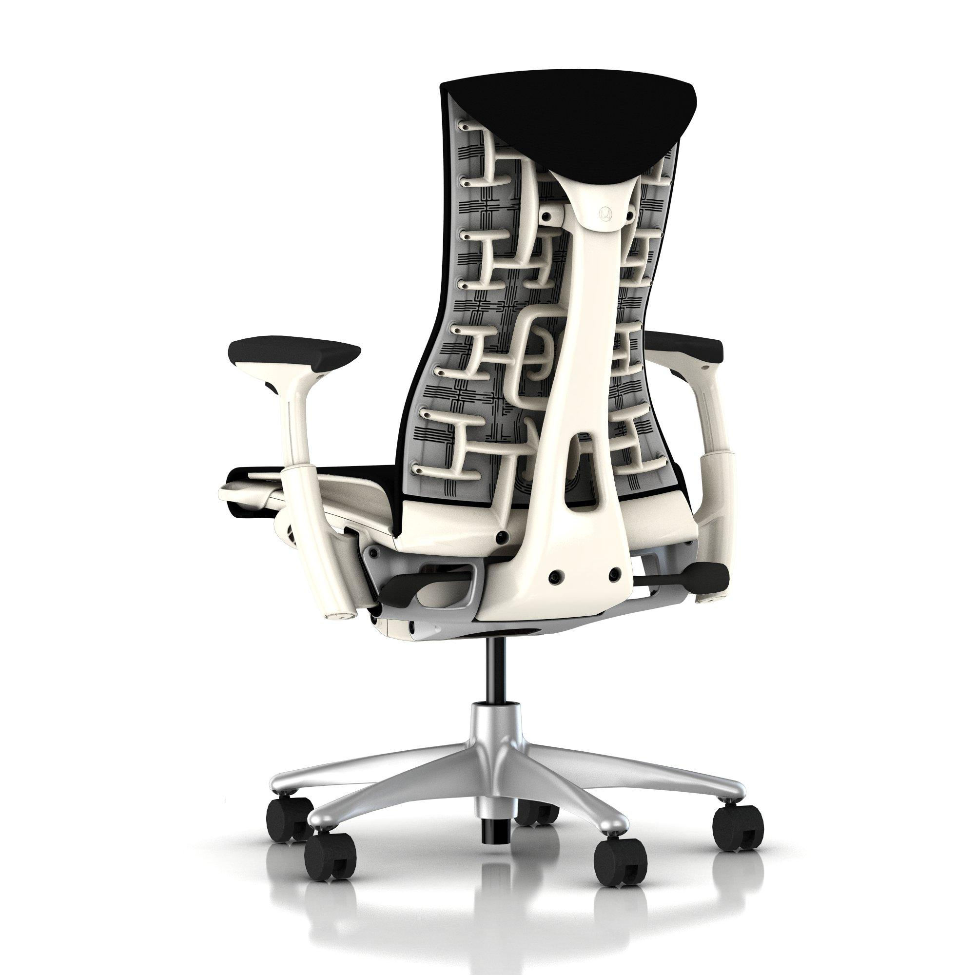 Herman Miller Embody Chair Black Rhythm with White Frame and