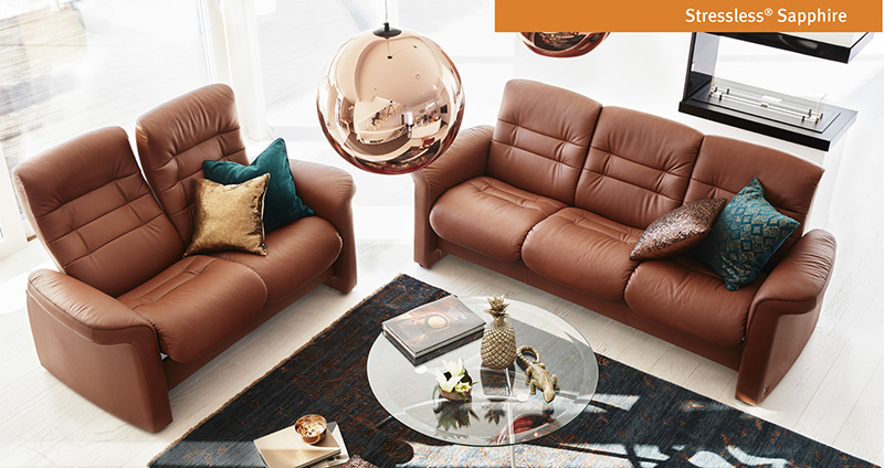 Ekornes Sapphire Sofa and Loveseat by Stressless