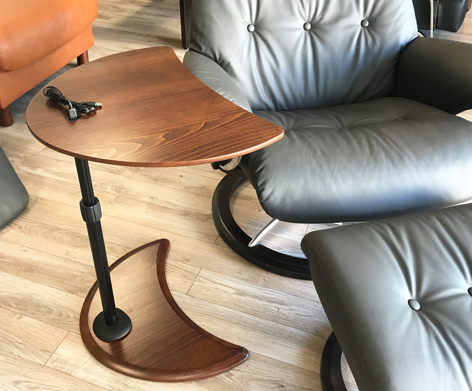 Stressless Alpha Table with USB for Ekornes Chairs ...