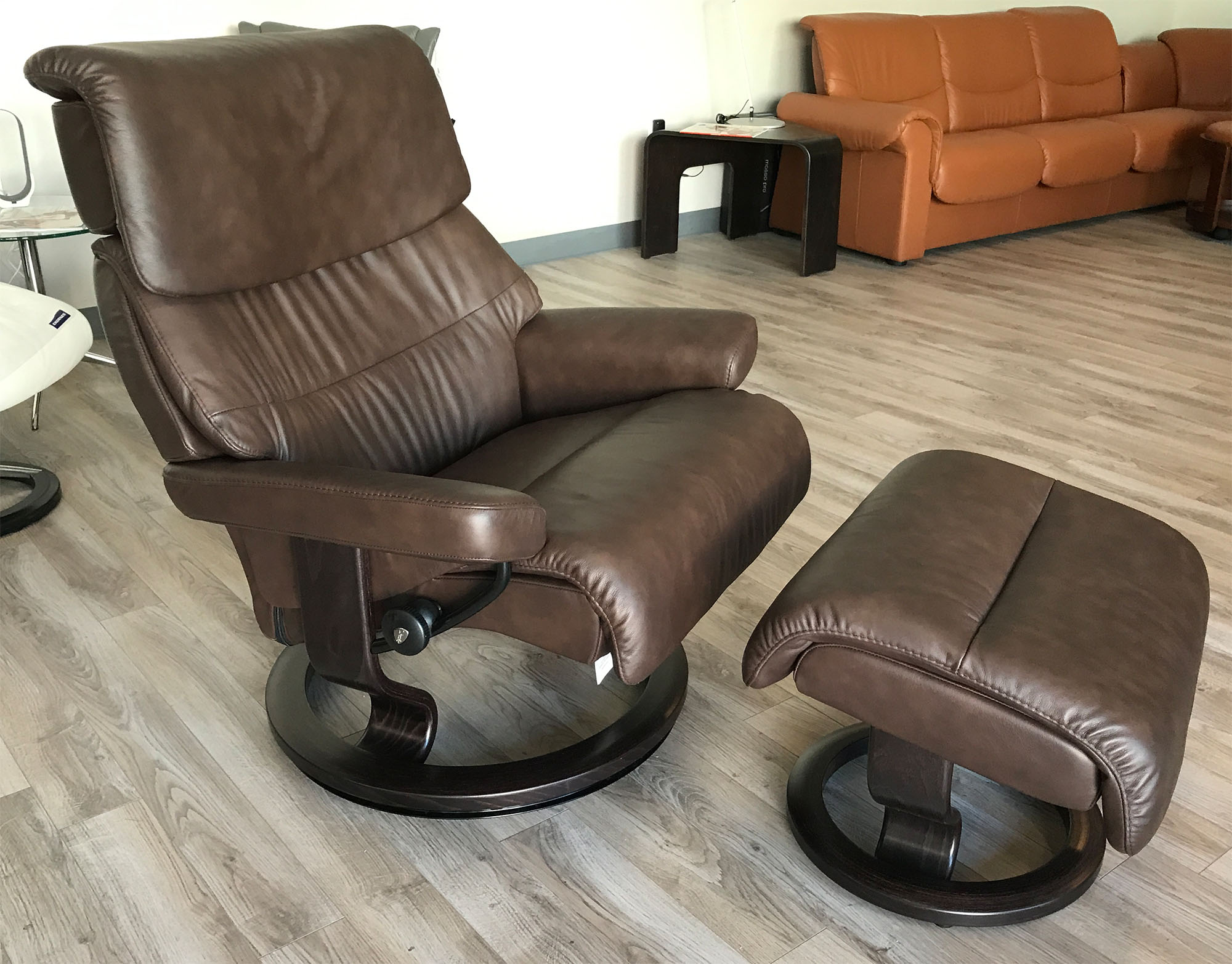 Stressless Capri Paloma Chocolate Leather By Ekornes Stressless Capri Paloma