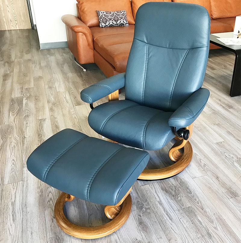 Stressless Consul Recliner Chair And Ottoman Batick