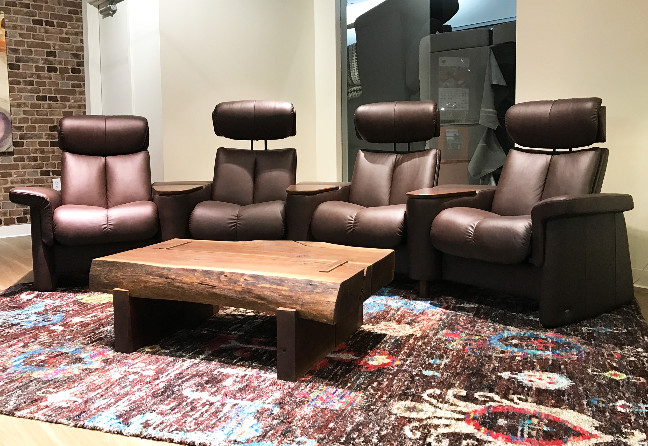 Stressless Legend Home Theater Sofa Sectional In Paloma