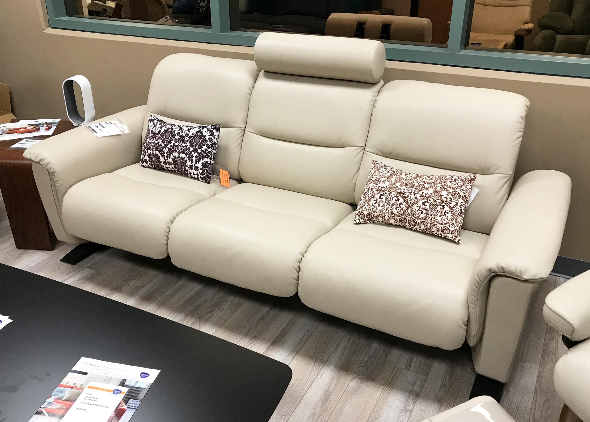 Panorama Sofa in Cori Fog Leather