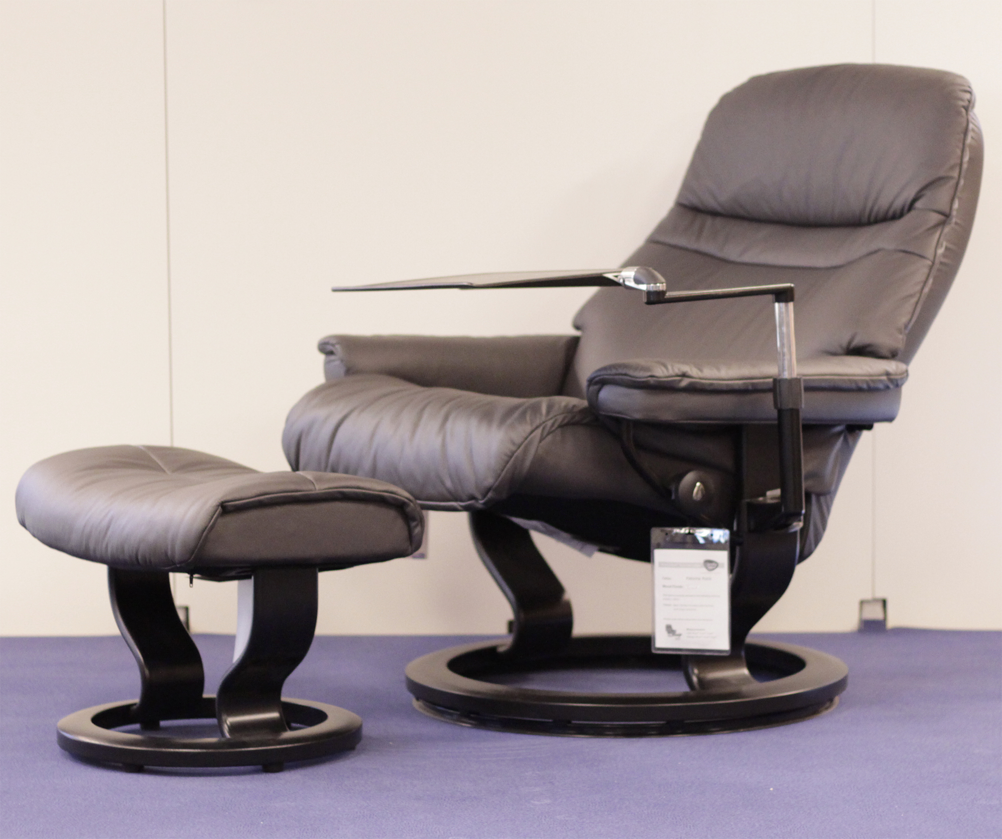 Stressless Sunrise Paloma Rock Leather Recliner Chair By