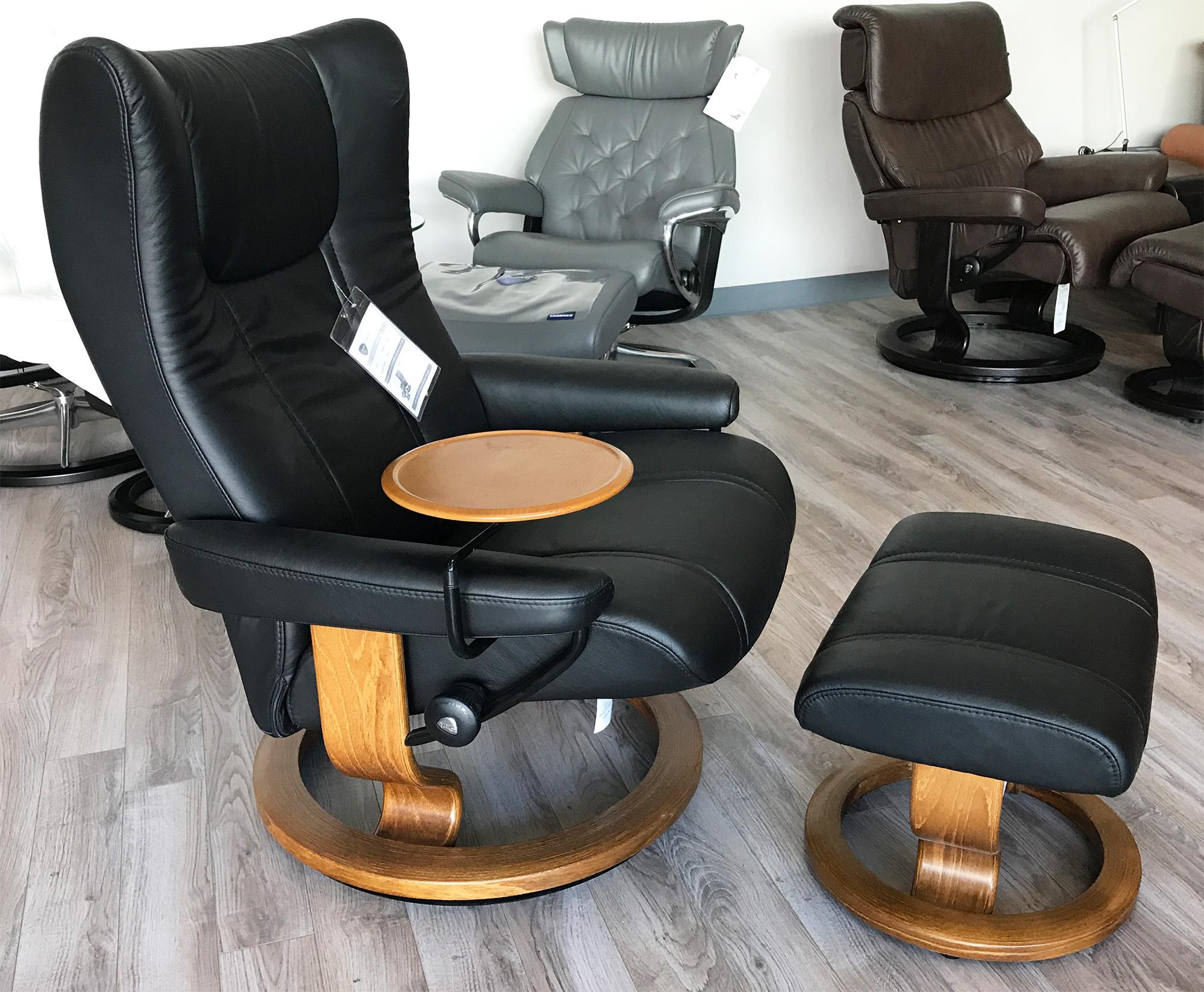 Medium Wing Stressless Cori Amarone Leather Recliner Chair By Ekornes
