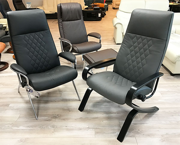 Stressless YOU Leather Recliner Chair and Ottoman