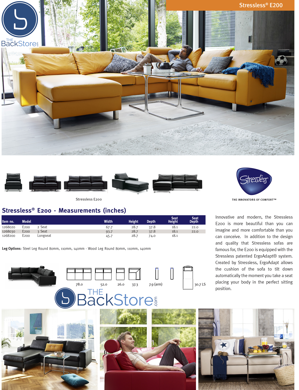 Ekornes Stressless E200 - Matching back cushion and frame ...