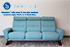 Stressless YOU Julia Sofa, Loveseat and Ottoman Karma Aqua Fabric Set