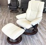 Stressless Mayfair Recliner Chairs and Ottoman