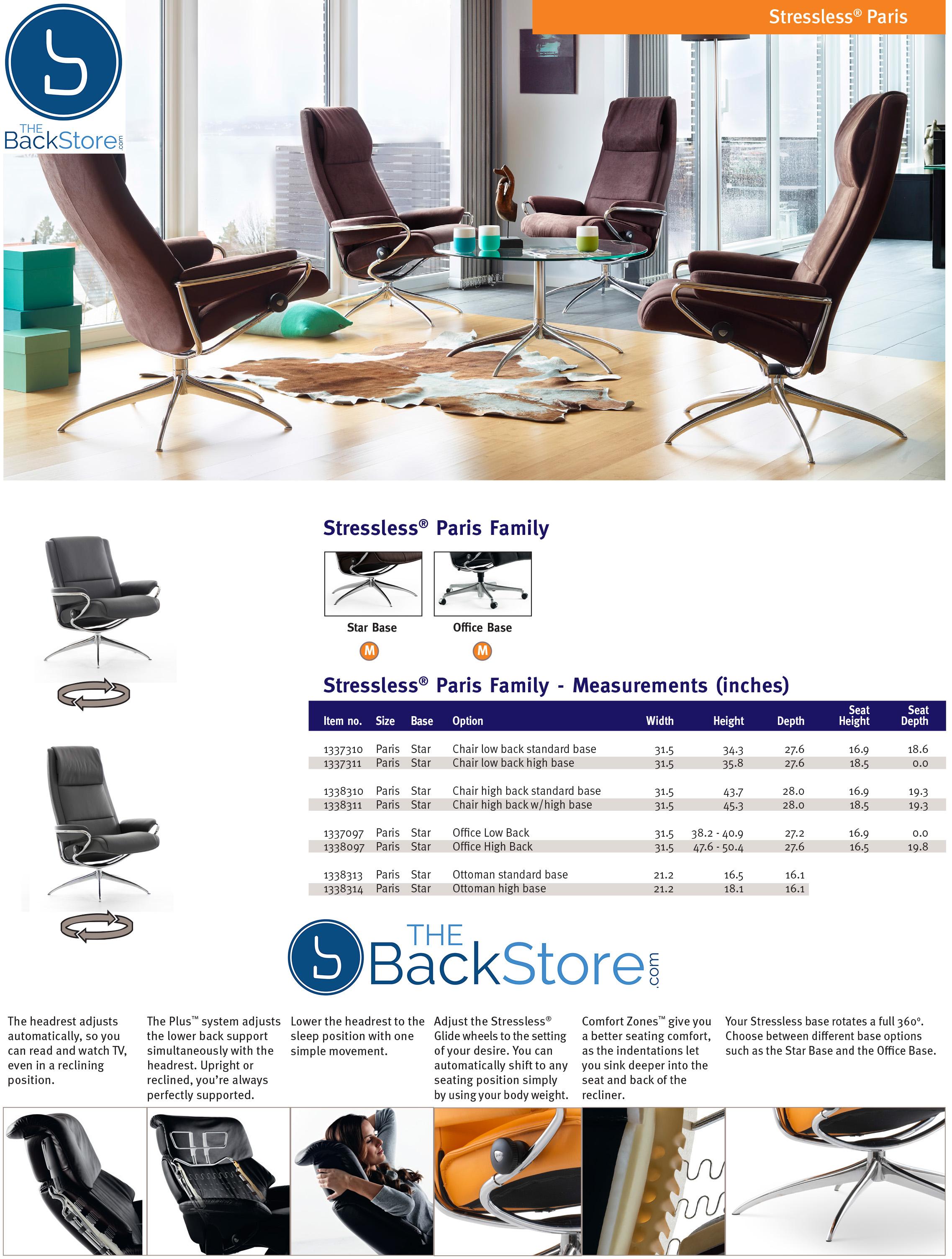 Ekornes Stressless Paris High Back Leather fice Desk Chair