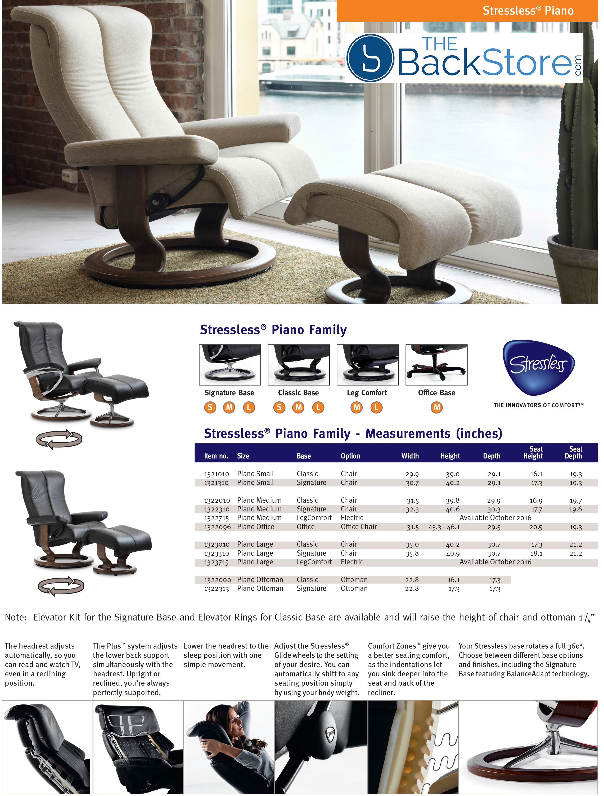 Stressless Piano Signature Metal Base Recliner Chair by Ekornes