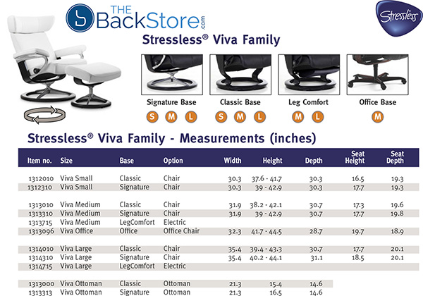 Stressless Viva Family Recliner Chair and Ottoman