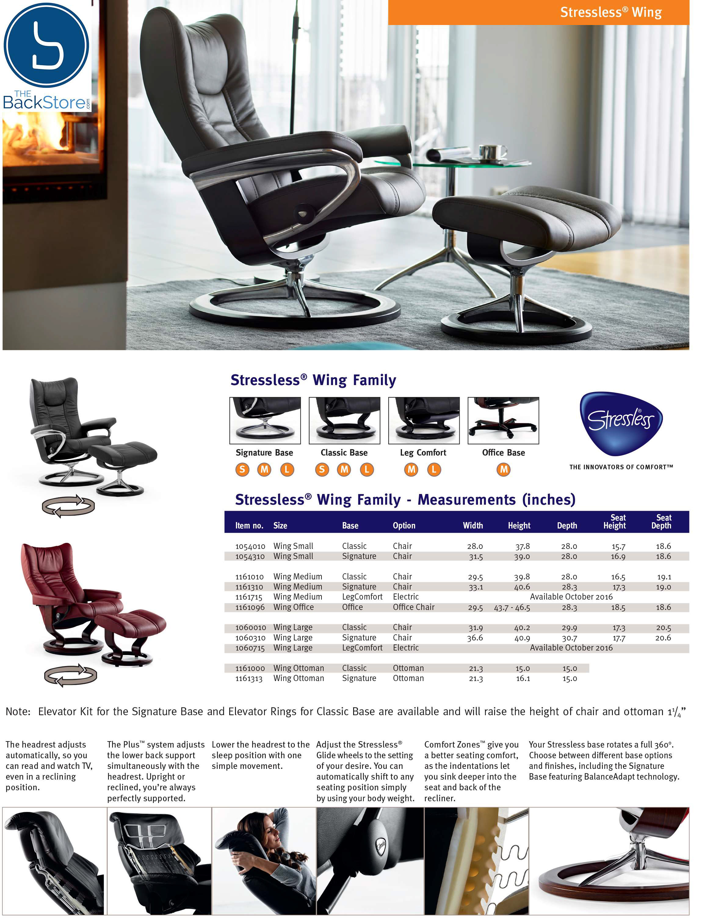 Stressless Wing Leather Recliner Chair and Ottoman by Ekornes  sc 1 st  Vitalityweb.com & Stressless Wing Recliner Chairs - Ekornes Stressless Wing Eagle ... islam-shia.org