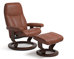 Stressless Consul Classic Recliner Chair and Ottoman